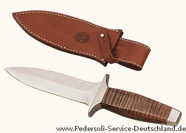 Pedersoli Messer / Stahlwaren BOOT  Messer mit Scheide